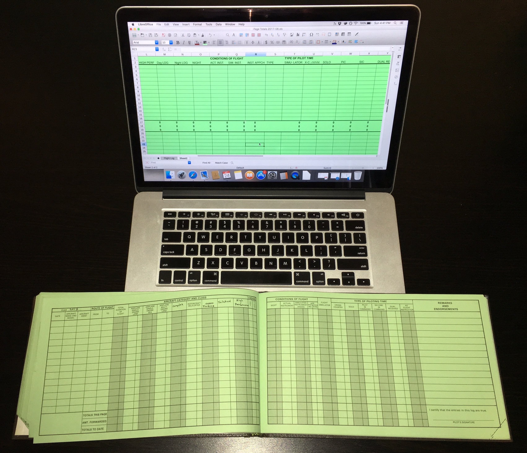 5 reasons to use excel as your electronic logbook perfected flight make it look like your paper logbook maxwellsz